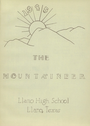 Page 5, 1945 Edition, Llano High School - Yellow Jacket Yearbook (Llano, TX) online yearbook collection
