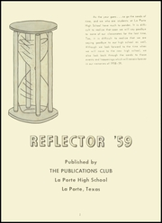 Page 5, 1959 Edition, La Porte High School - Reflector Yearbook (La Porte, TX) online yearbook collection
