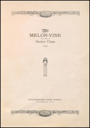 Page 7, 1914 Edition, Weatherford High School - Melon Vine Yearbook (Weatherford, TX) online yearbook collection