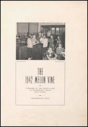 Page 9, 1942 Edition, Weatherford High School - Melon Vine Yearbook (Weatherford, TX) online yearbook collection