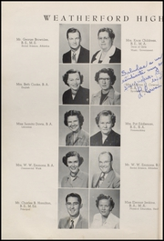 Page 16, 1953 Edition, Weatherford High School - Melon Vine Yearbook (Weatherford, TX) online yearbook collection