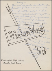 Page 5, 1958 Edition, Weatherford High School - Melon Vine Yearbook (Weatherford, TX) online yearbook collection