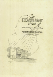 Page 5, 1922 Edition, Abilene High School - Flashlight Yearbook (Abilene, TX) online yearbook collection