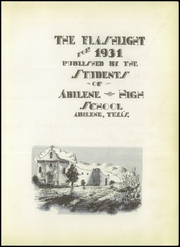 Page 7, 1931 Edition, Abilene High School - Flashlight Yearbook (Abilene, TX) online yearbook collection