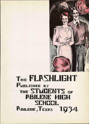 Page 9, 1934 Edition, Abilene High School - Flashlight Yearbook (Abilene, TX) online yearbook collection