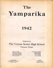 Page 5, 1942 Edition, Vernon High School - Yamparika Yearbook (Vernon, TX) online yearbook collection