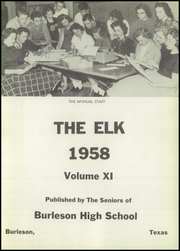 Page 7, 1958 Edition, Burleson High School - Elk Yearbook (Burleson, TX) online yearbook collection