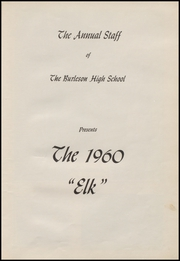 Page 7, 1960 Edition, Burleson High School - Elk Yearbook (Burleson, TX) online yearbook collection