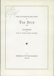 Page 7, 1936 Edition, El Paso High School - Spur Yearbook (El Paso, TX) online yearbook collection