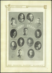 Page 8, 1920 Edition, San Marcos Baptist Academy - Crest Yearbook (San Marcos, TX) online yearbook collection
