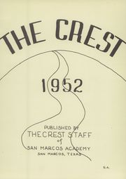 Page 5, 1952 Edition, San Marcos Baptist Academy - Crest Yearbook (San Marcos, TX) online yearbook collection