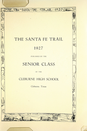 Page 5, 1927 Edition, Cleburne High School - Santa Fe Trail Yearbook (Cleburne, TX) online yearbook collection