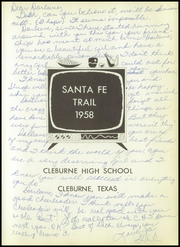Page 9, 1958 Edition, Cleburne High School - Santa Fe Trail Yearbook (Cleburne, TX) online yearbook collection