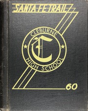 1960 Edition, Cleburne High School - Santa Fe Trail Yearbook (Cleburne, TX)