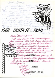 Page 7, 1960 Edition, Cleburne High School - Santa Fe Trail Yearbook (Cleburne, TX) online yearbook collection
