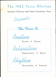 Page 6, 1942 Edition, Newman High School - Yucca Gloriosa Yearbook (Sweetwater, TX) online yearbook collection