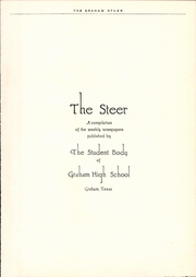 Page 5, 1941 Edition, Graham High School - Steer Yearbook (Graham, TX) online yearbook collection