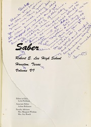 Page 5, 1968 Edition, Robert E Lee High School - Saber Yearbook (Houston, TX) online yearbook collection