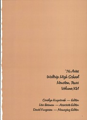 Page 5, 1976 Edition, Waltrip High School - Aries Yearbook (Houston, TX) online yearbook collection