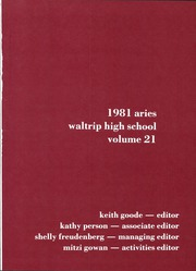 Page 5, 1981 Edition, Waltrip High School - Aries Yearbook (Houston, TX) online yearbook collection