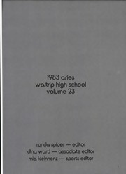 1983 Edition, Waltrip High School - Aries Yearbook (Houston, TX)