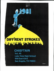 Page 3, 1981 Edition, Lake View High School - Chieftain Yearbook (San Angelo, TX) online yearbook collection