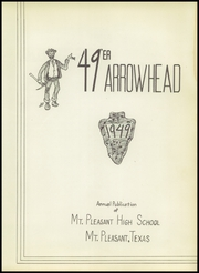 Page 7, 1949 Edition, Mount Pleasant High School - Arrowhead Yearbook (Mount Pleasant, TX) online yearbook collection