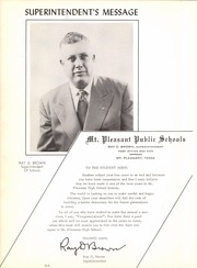 Page 12, 1950 Edition, Mount Pleasant High School - Arrowhead Yearbook (Mount Pleasant, TX) online yearbook collection