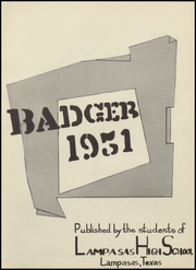 Page 5, 1951 Edition, Lampasas High School - Badger Yearbook (Lampasas, TX) online yearbook collection