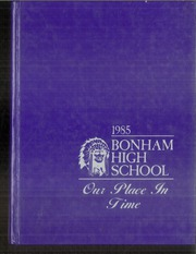 1985 Edition, Bonham High School - Coushatta Yearbook (Bonham, TX)