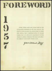 Page 6, 1957 Edition, Waller High School - Bulldog Yearbook (Waller, TX) online yearbook collection