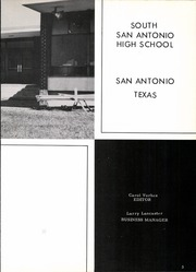 Page 7, 1962 Edition, South San Antonio High School - Cat Tale Yearbook (San Antonio, TX) online yearbook collection