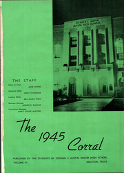 Page 5, 1945 Edition, Stephen F Austin Senior High School - Corral Yearbook (Houston, TX) online yearbook collection