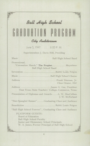 Page 4, 1947 Edition, Ball High School - Purple Quill Yearbook (Galveston, TX) online yearbook collection