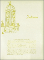Page 9, 1951 Edition, Ball High School - Purple Quill Yearbook (Galveston, TX) online yearbook collection