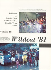 Page 5, 1981 Edition, Humble High School - Wildcat Yearbook (Humble, TX) online yearbook collection