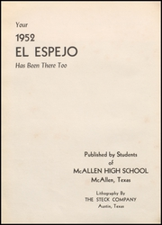 Page 10, 1952 Edition, McAllen High School - El Espejo Yearbook (McAllen, TX) online yearbook collection