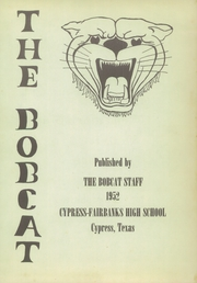 Page 5, 1952 Edition, Cypress Fairbanks High School - Bobcat Yearbook (Cypress, TX) online yearbook collection
