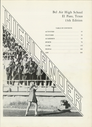 Page 5, 1970 Edition, Bel Air High School - Highlander Yearbook (El Paso, TX) online yearbook collection