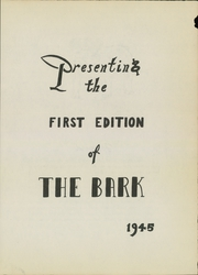 Page 5, 1945 Edition, Luther Burbank High School - Bark Yearbook (San Antonio, TX) online yearbook collection
