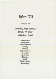Page 5, 1973 Edition, Crowley High School - Talon Yearbook (Crowley, TX) online yearbook collection