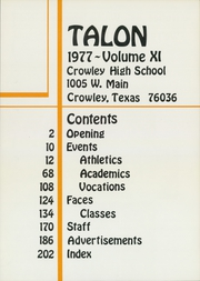 Page 5, 1977 Edition, Crowley High School - Talon Yearbook (Crowley, TX) online yearbook collection