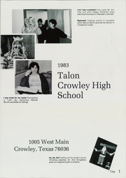 Page 5, 1983 Edition, Crowley High School - Talon Yearbook (Crowley, TX) online yearbook collection