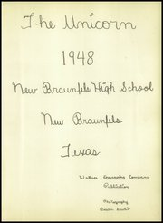 Page 5, 1948 Edition, New Braunfels High School - Unicorn Yearbook (New Braunfels, TX) online yearbook collection