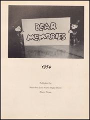 Page 5, 1954 Edition, Pharr San Juan Alamo High School - Bear Memories Yearbook (Alamo, TX) online yearbook collection