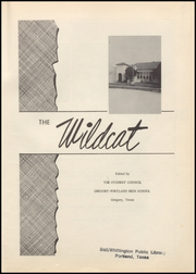 Page 5, 1955 Edition, Gregory Portland High School - Wildcat Yearbook (Gregory, TX) online yearbook collection