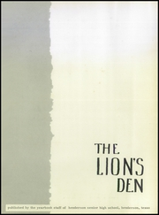 Page 5, 1954 Edition, Henderson High School - Lions Den Yearbook (Henderson, TX) online yearbook collection