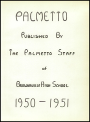Page 5, 1951 Edition, Brownsville High School - Palmetto Yearbook (Brownsville, TX) online yearbook collection