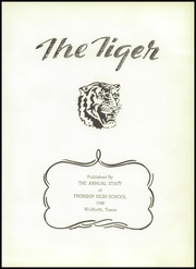Page 7, 1948 Edition, Frenship High School - Tiger Yearbook (Wolfforth, TX) online yearbook collection