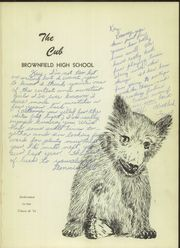 Page 5, 1951 Edition, Brownfield High School - Cub Yearbook (Brownfield, TX) online yearbook collection
